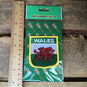 Welsh-Flag-Shield-Patch-Sports-Holidays-Walking-Hiking-Wales-Cymru-Cymraeg-bnip