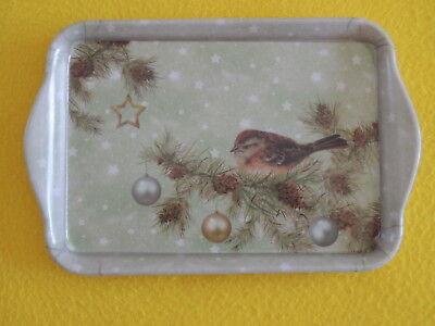 Ambiente 1x Tablett Vogel Blüten Rosa  Melamin 13 x 21 trays Birds Blossom Schme