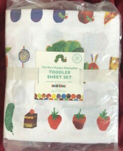 Pottery-Barn-Kids-The-Very-Hungry-Caterpillar-Toddler-Sheet-Set-NLA-NWT
