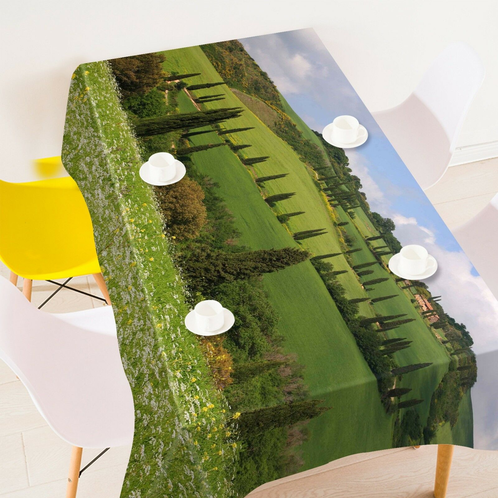 3D Field Pine 123 Tablecloth Table Cover Cloth Birthday Party Event AJ Jenny
