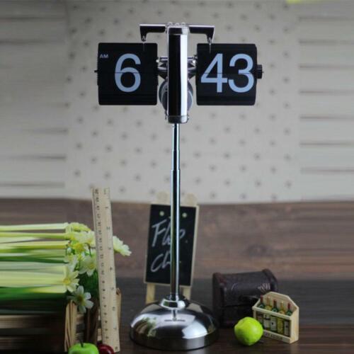 Auto Flip Down Clock Mechanical Desk Clock Home Cafe Decorative Tabletop Clocks