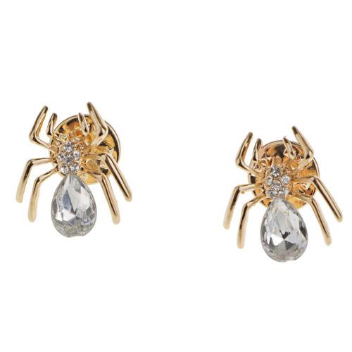 Spinne Brosche Collar Tips für Kragen Collar Anzug Hemd Kragen Pin Gold
