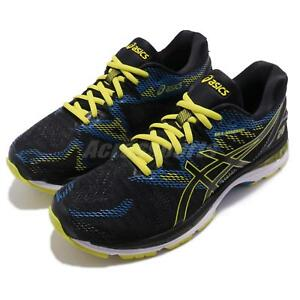 300b45ddb89b Asics Gel-Nimbus 20 Black Yellow Men Road Running Shoes Sneakers ...