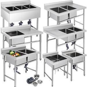 Details zu Lavello Cucina Lavandino 1,2,3 Vasca Mobile Appoggio Acciaio  Lavelli Cucina
