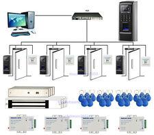 Bio 4 Puertas Fingerprint & RFID Sistema de Seguridad de Entrada 280kg Mag Lock