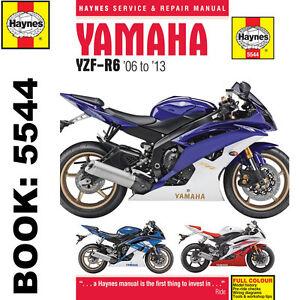 Yamaha-YZF-R6-599cc-2006-2013-Haynes-Workshop-Manual