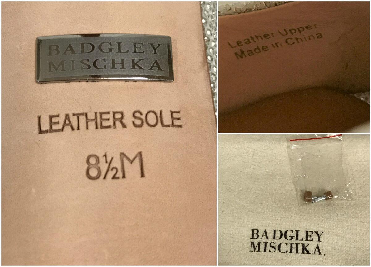Authentic Badgley Mischka Sz. 8.5  Drama  Plat Plat Plat Metallic Pumps  199 b81dd0