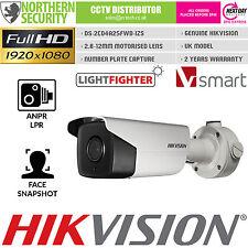 Hikvision ANPR LPR SMART Network IP Camera 2.8-12mm 60/fps POE MOTORIZZATA HD CCTV
