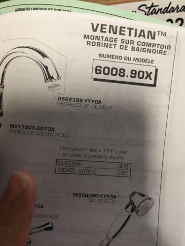 American Standard   Deck Mounted Roman Tub Filler wHandspray  Venetian 6008901