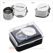 10x Jewelers Magnifying Loupe Metal Chrome Magnifier Doublet Glass Lens