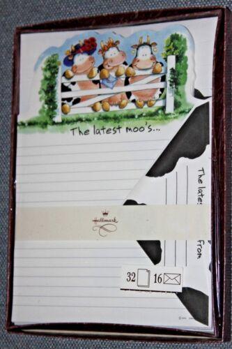 "Vintage Rare Hallmark Fine Writing Paper /""The Latest Moo/'s/"" Sealed"