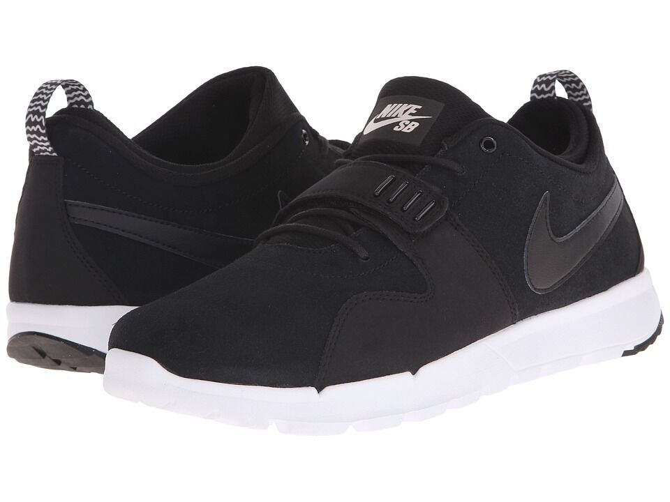 Nike SB Trainerendor Leather Mens 806309-002 Black Skateboarding Shoe Multi-Size