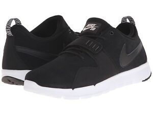 separation shoes 9a43a 2f21e Image is loading Nike-SB-Trainerendor-Leather-Mens-806309-002-Black-