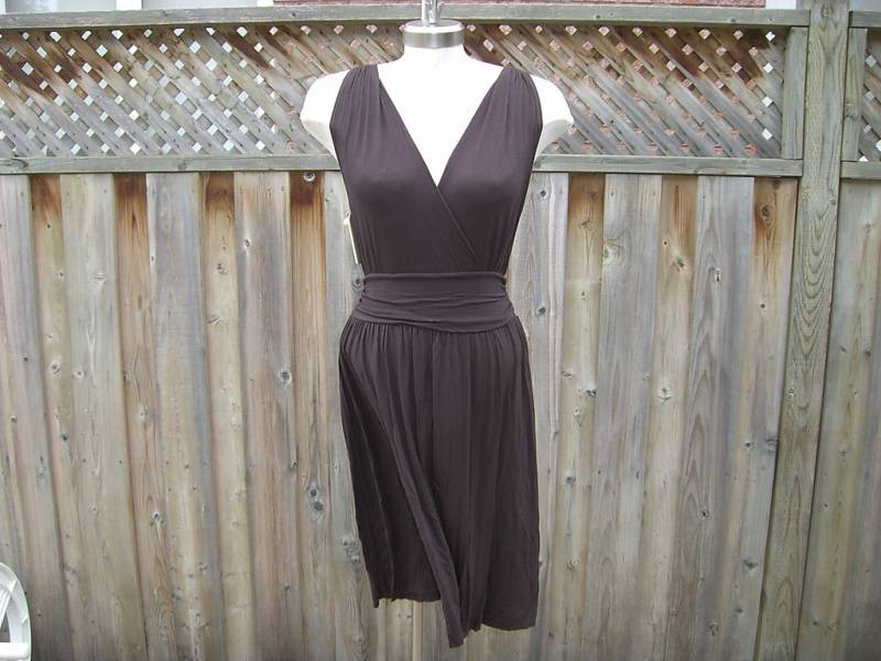 Diva by Rachel Pappo  Zodiac  Dress in Chocolate Brown
