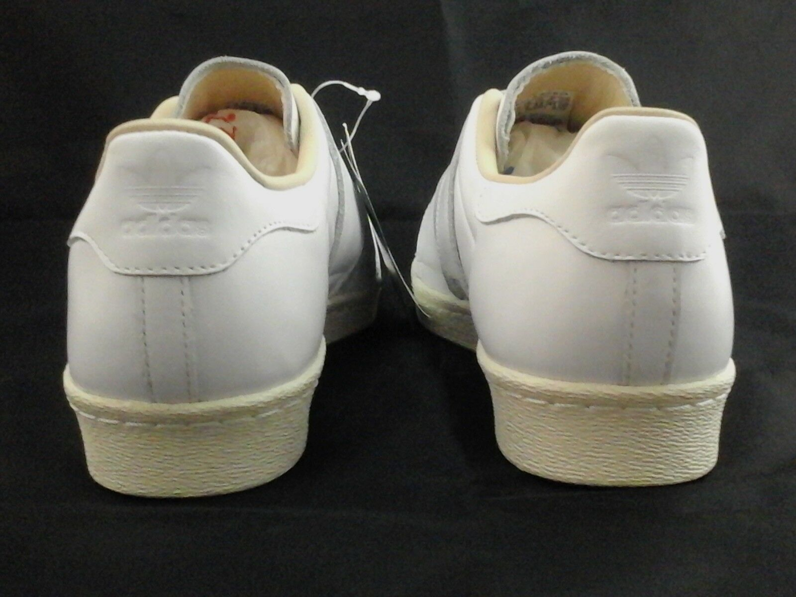 ADIDAS Superstar White Leather Sneakers 80s 80s 80s w Straps CQ2447 Womens US 9.5 42 New cf764c