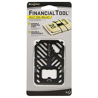 NITE IZE Financial Tool 7-in-1 Multi Tool Wallet Black FMT-01-R7 NEW