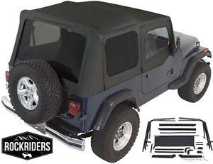 Superb Image Is Loading 1987 1995 Jeep Wrangler YJ Complete Soft Top