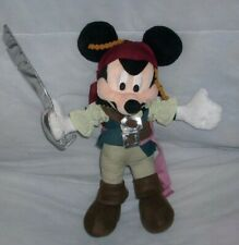 """Disney Parks Pirates of The Caribbean 12"""" Mickey Mouse Stuffed Animal Plush Toy"""