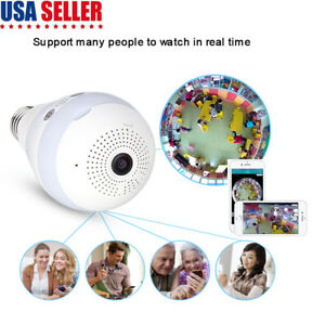 Details about Panoramic Bulb Camera Wireless IP Cameras Wi-fi Security 960P  Led Lighting V380