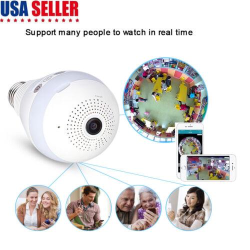 Panoramic Bulb Camera Wireless IP Cameras Wi-fi Security 960P Led Lighting V380