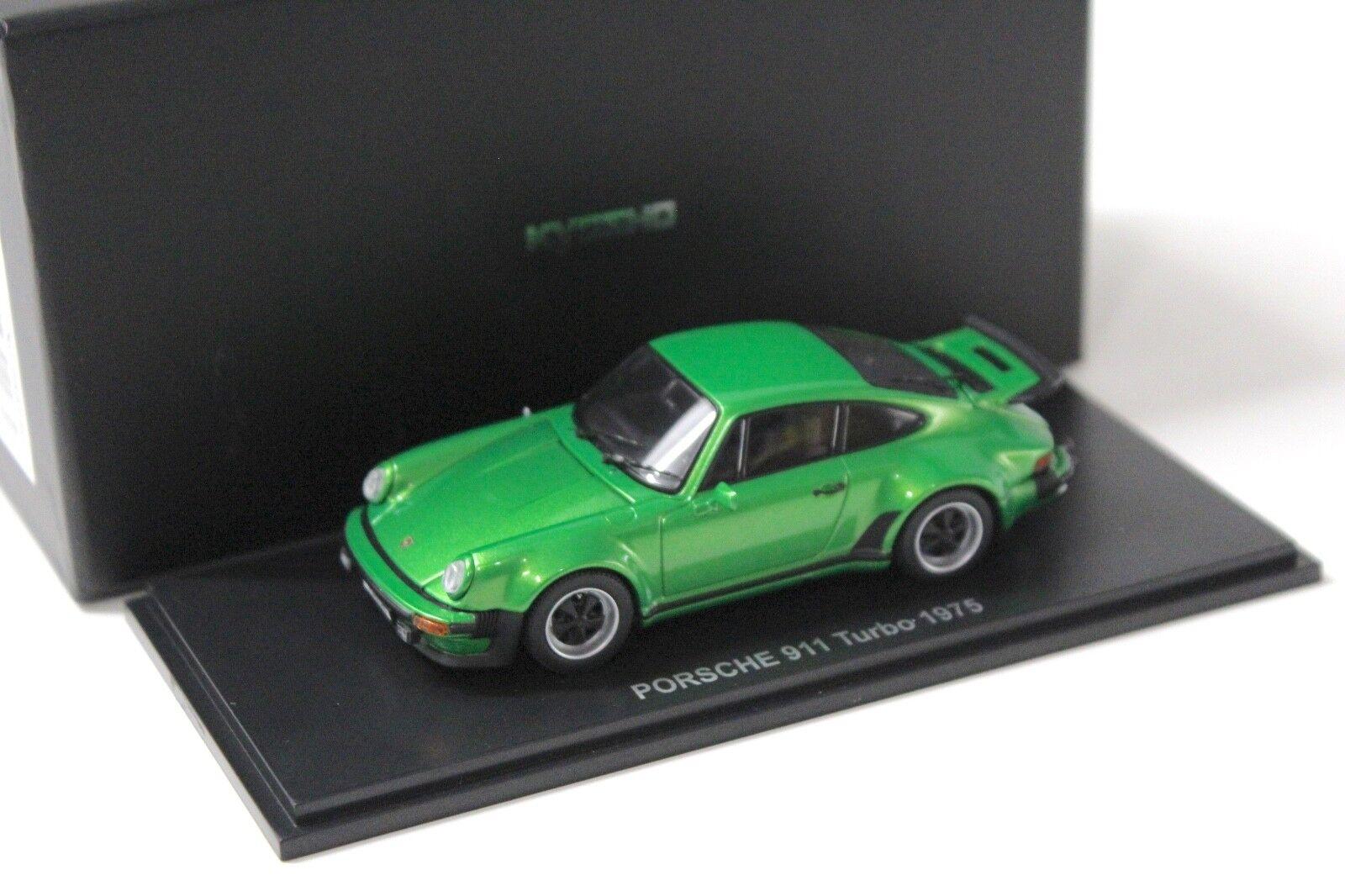 1 43 Kyosho Porsche 911 930 turbo 1975 vert NEW chez Premium-modelcars