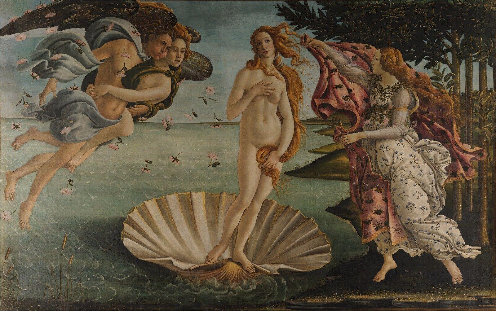 Time 4 image sandro Botticelli Naissance de vénus image toile érougeique Canvas NUDE