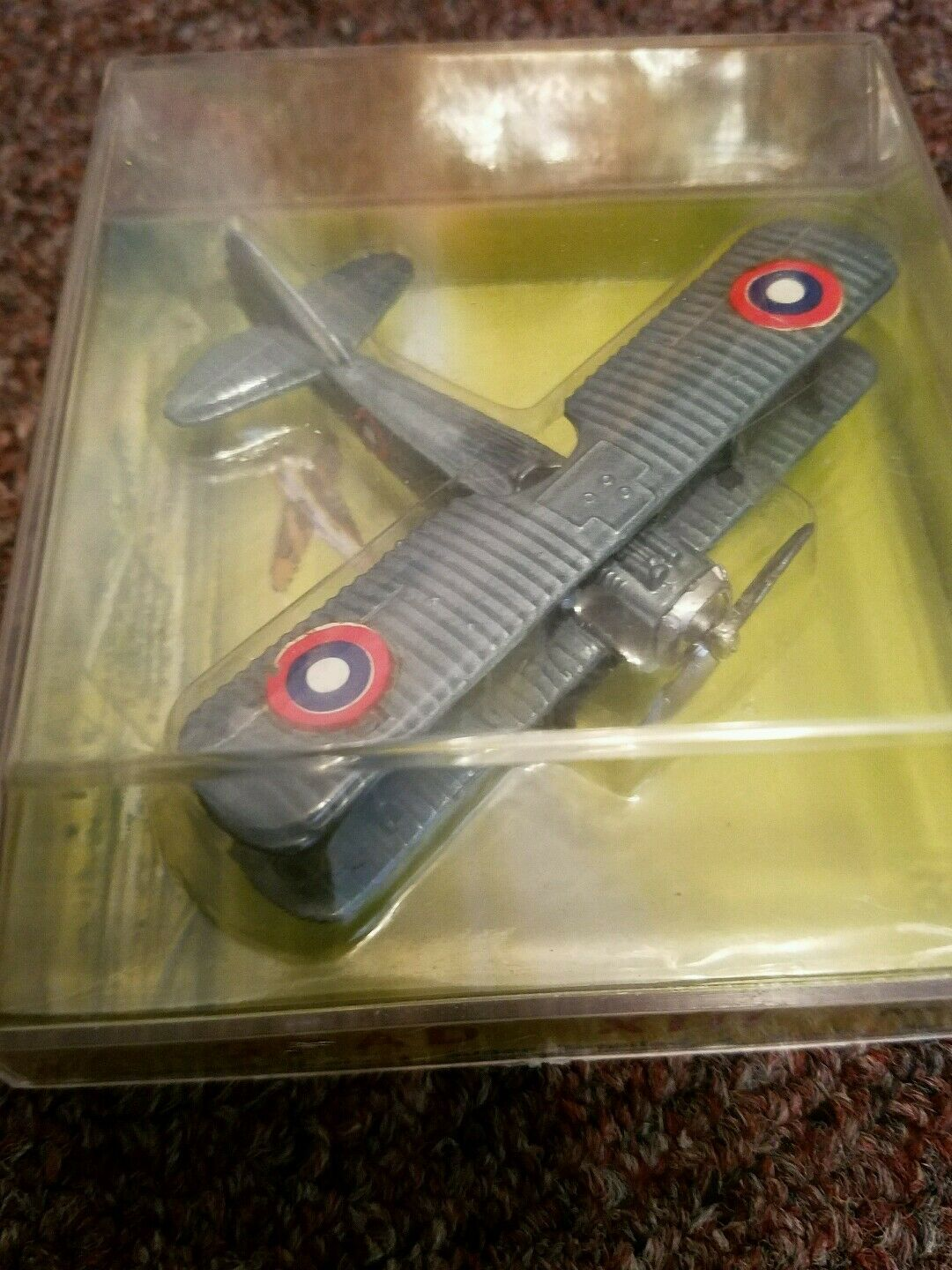 Vintage Mighty Wings Diecast Metal World War I Series  Spad XIII Made  Hong Kong