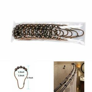 Details About Shower Curtain Gourd Shape Hook Rings Solid Ball Bathroom Ings Oil Rubbed Br