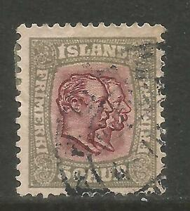 Iceland 1907-08 Two Kings 50a gray & violet (82) fine used