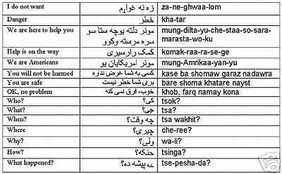 Afghanistan Afghani Pashto Afghan Language DLI Audio CD