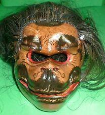 Mask Hanaman Bali Monkey Hindu Celeluk with hair Gargoyle Hand carve d 8x7 inch
