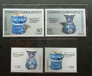 SJ-Portugal-Turkey-Joint-Issue-2009-Ceramic-Porcelain-Art-Culture-stamp-MNH