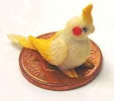 1:12 Scale Polymer Clay Baby White Cockatoo Dolls House Miniature Garden Bird C2