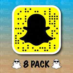 Image is loading Snapchat-Snapcode-QR-Code-8-PACK-3-034-