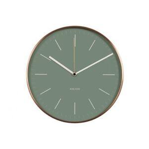 Orologio da Parete Minimal Verde Rame Custodia Design Unico Moderno ...