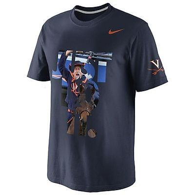 Nike /'Just Do It/' Round Neck Navy T-shirt
