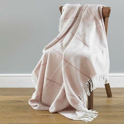 Blush Pink Mirano Acrylic Throws 200cm x 200cm Sofa Chair Bed Cover NEW
