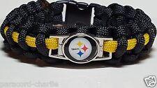 Pittsburgh Steelers Black & Gold Handmade Paracord Bracelet or Lanyard