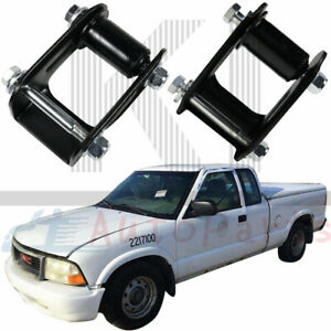 MotorFansClub Rear Leaf Spring Shackle Kit Fit For Compatible With Chevy Blazer S10 GMC Jimmy S15 1Pair