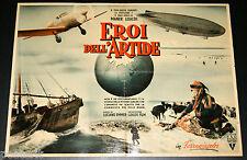 soggettone film EROI DELL'ARTIDE Luciano Emmer Maner Lualdi 1954 DIRIGIBILE