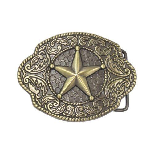 Classic Sheriff Police Texas Ranger Gold Star Western Cowboy Belt Buckle NEW