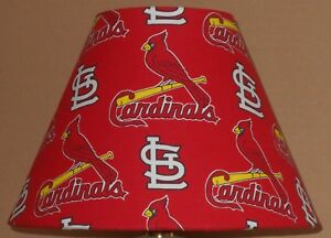 St louis cardinals mlb fabric lamp shade sports handmade desk table image is loading st louis cardinals mlb fabric lamp shade sports mozeypictures Choice Image