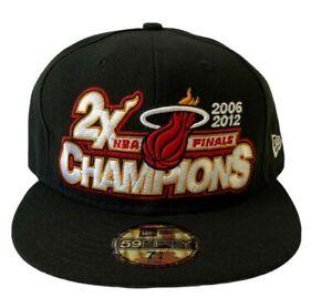 Miami-Heat-NBA-Finals-2006-2012-Champions-New-Era-Fitted-Cap-Hat