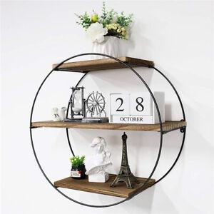 50cm Round 3 Tier Floating Shelves Wall Mount Book Display Decoration Shelf Rack