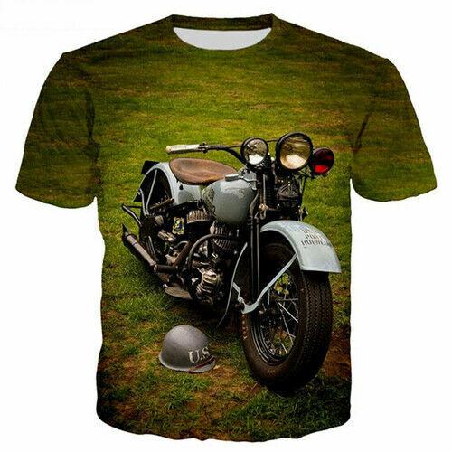 New Arrival Cool Motorcycle Women Men T-Shirt 3D Print Short Sleeve Tee Tops