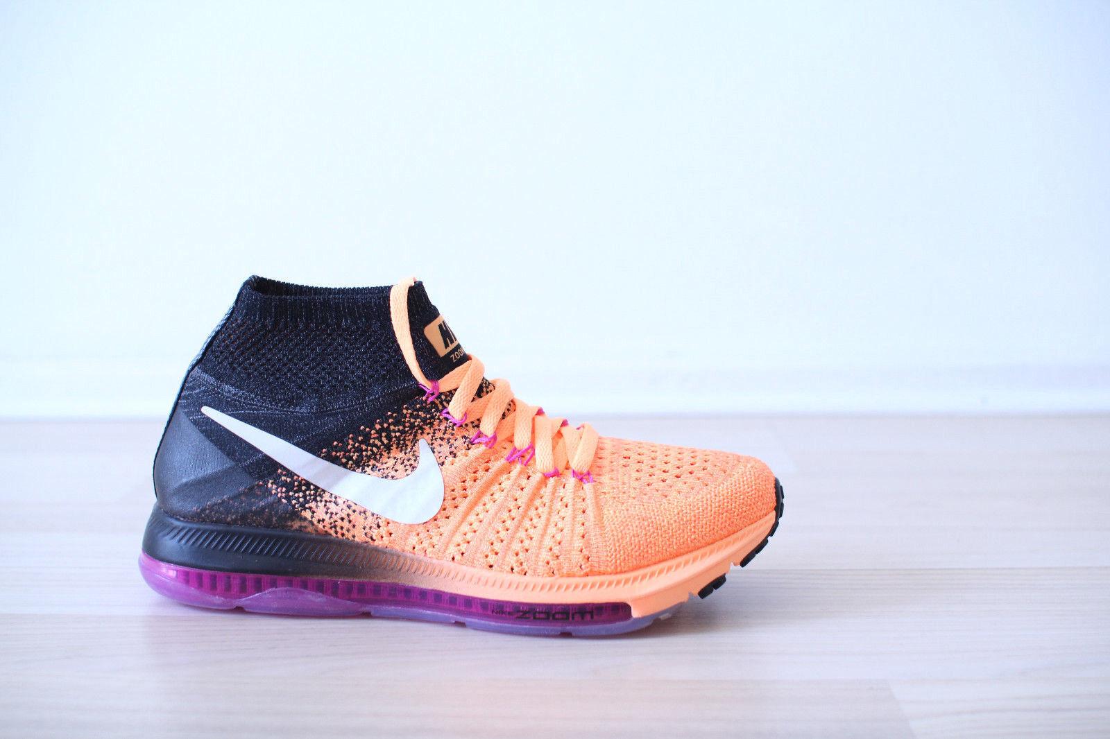 Nike Zoom All Out Flyknit WMNS orange black purple Gr. 38 Uk 4,5 NEU & OVP