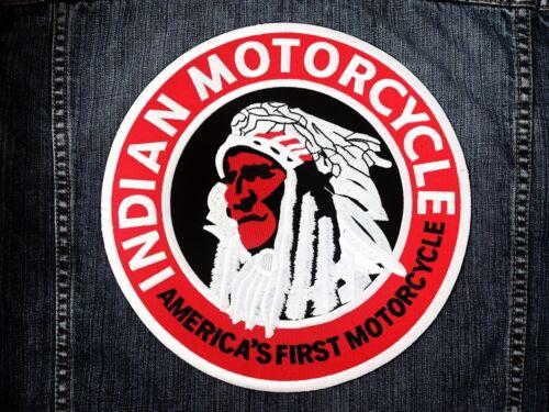 LARGE SIZE INDIAN MOTORCYCLE Biker America Chopper Jacket Vest Sew Iron on Patch