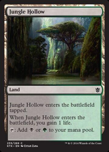 English x4 Jungle Hollow MTG Khans of Tarkir C M//NM