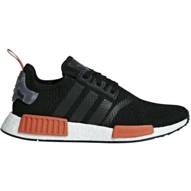 uk availability 1e939 d97e1 [AQ0882] Mens Adidas NMD_R1 Running Sneaker - Black Raw Amber Size Mens 7.5