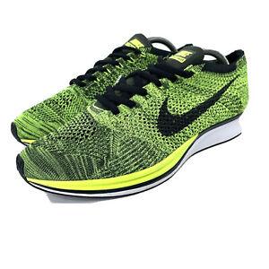 Hommes 11.5 Nike Flyknit Racer Volt Vert/Noir 526628-731